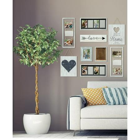 Decor Kit (Pinnacle Frames Heart Decor White Collage Kit Picture)