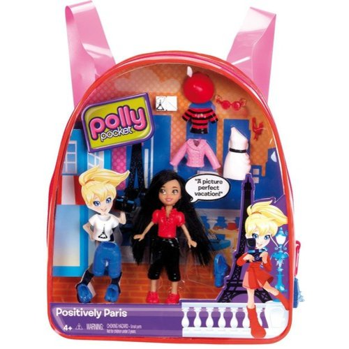 Polly Pocket Travel Positively Paris Backpack Play Set
