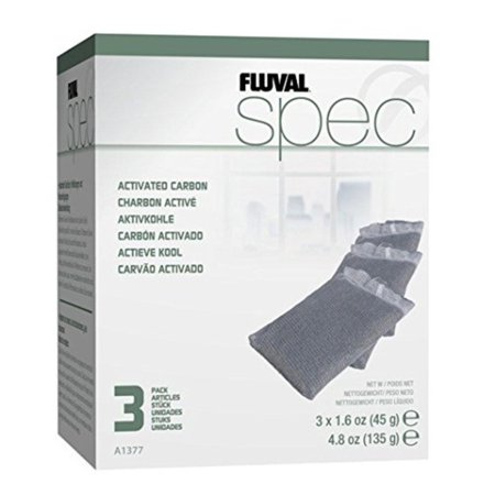 Fluval Carbon Bags - SPEC Carbon Filter Media - 3-Pack, Replacement media for the Fluval Spec By Fluval