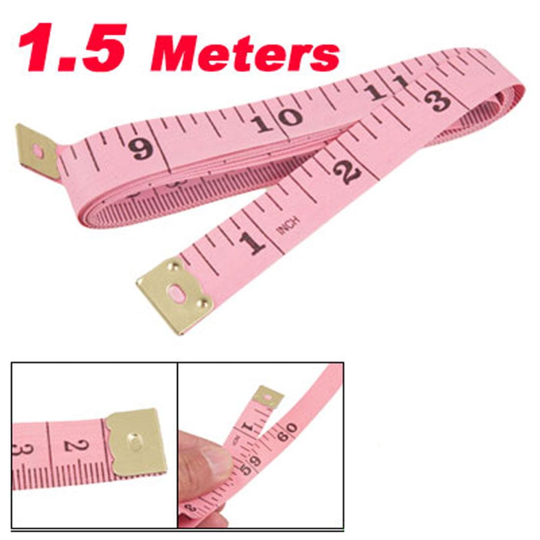 """Unique Bargains 1.5M 60"""" Long Pink Plastic Tape Measure Tailor Sewing Ruler"""
