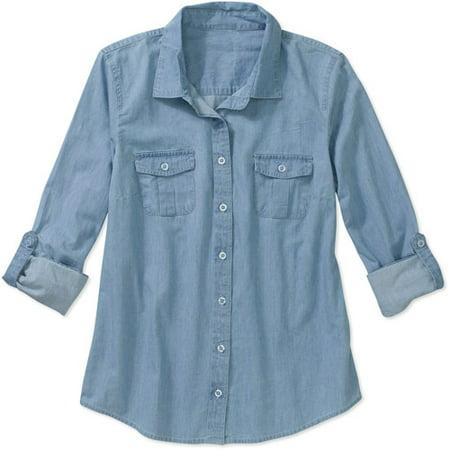 fd3d70d2883 Faded Glory - Women s Denim Shirt - Walmart.com