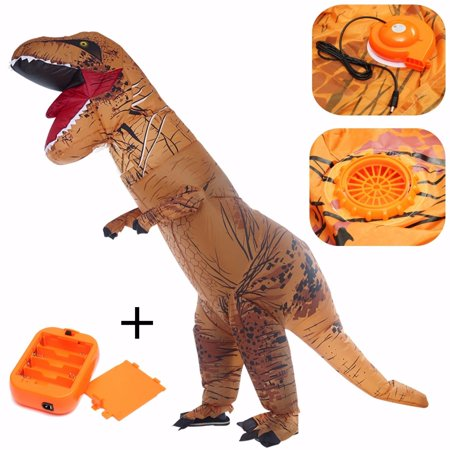 2 Meters High Adult T-Rex Inflatable Jumpsuit Funny Dinosaur Blow Up Fes-tival Costume Outfit