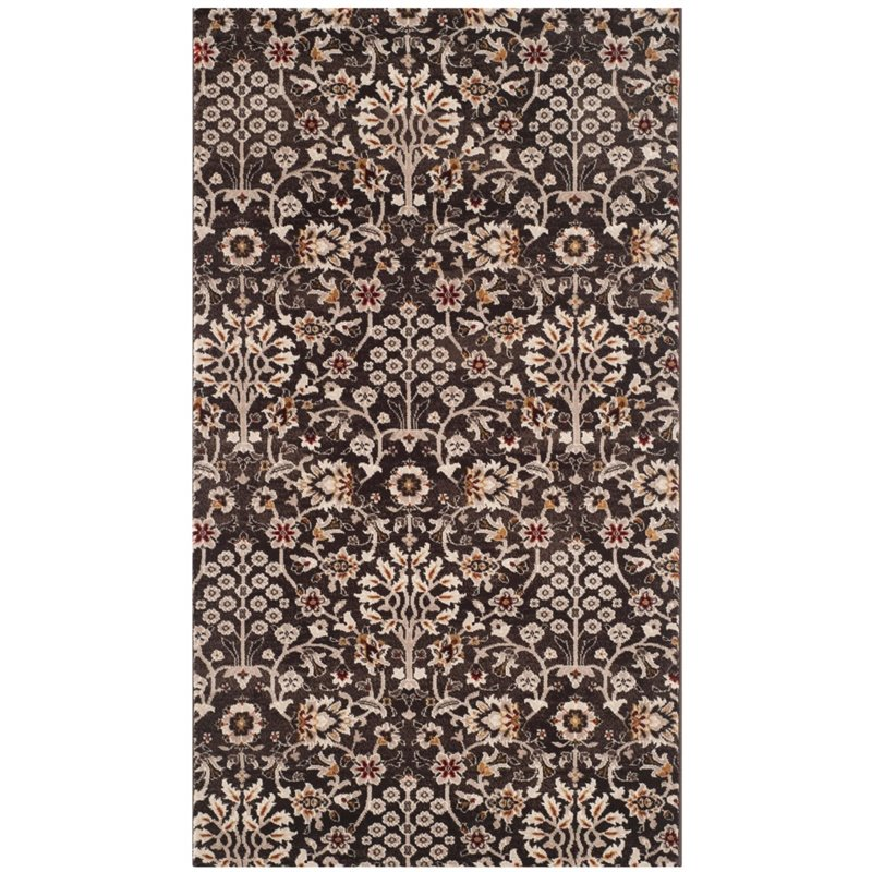 "Safavieh Serenity 3'3"" X 5'3"" Power Loomed Rug in Brown and Creme - image 1 de 4"