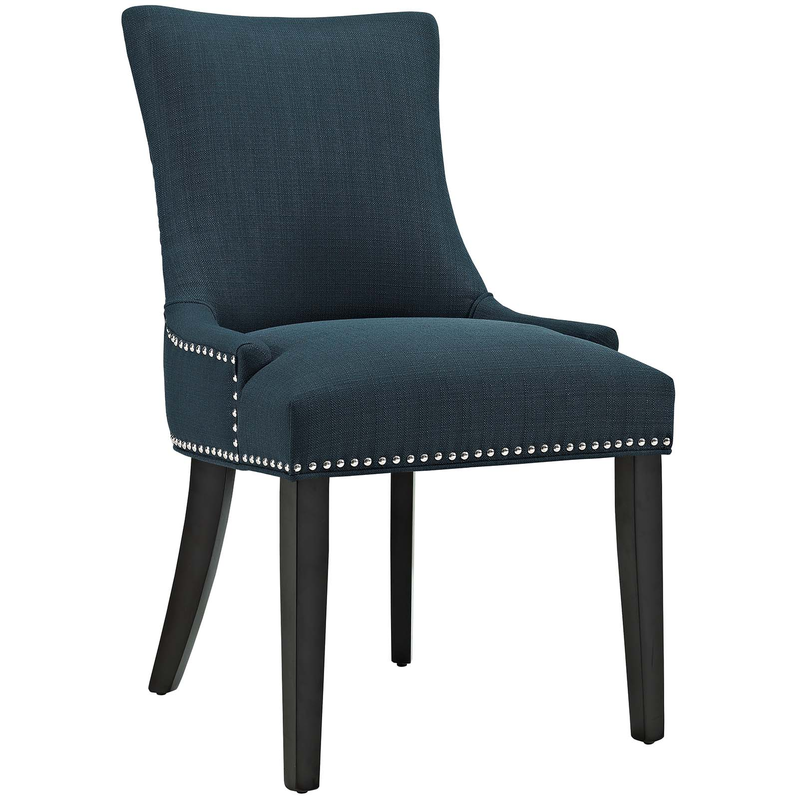 Modern Contemporary Urban Design Kitchen Room Dining Chair, Navy Blue, Fabric Wood