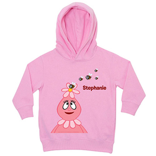 Personalized Yo Gabba Gabba! Foofa and Bees Pink Toddler Girl Hoodie