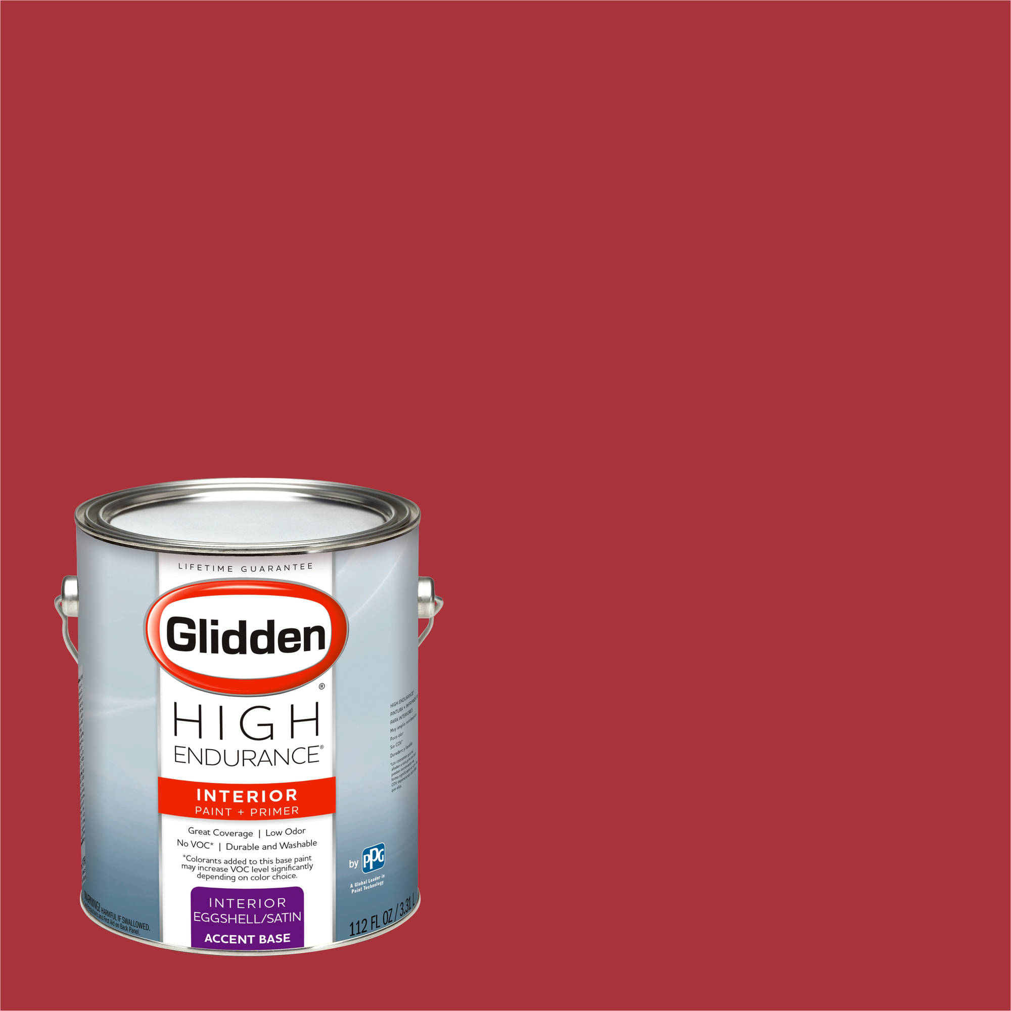 Glidden High Endurance, Interior Paint and Primer, Rapture Red, # 07YR 10/489
