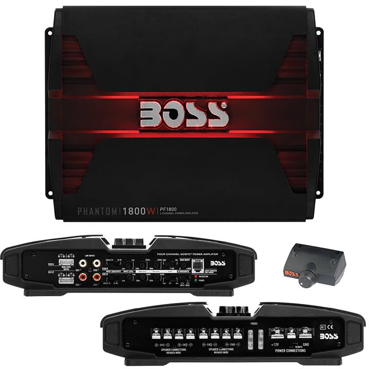 Boss Audio PF1800 Phantom 1800W 4-Channel Full Range, Class A/B Amplifier