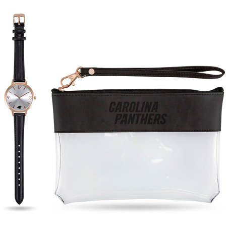 Carolina Panthers Sparo Women's Watch & Wallet Gift Set Carolina Panthers Leather