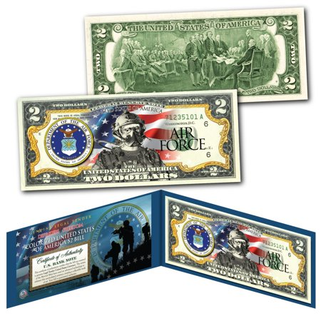 Freedom Air (US SPECIAL FORCES Defenders of Freedom AIR FORCE Military Branch Genuine $2 Bill )