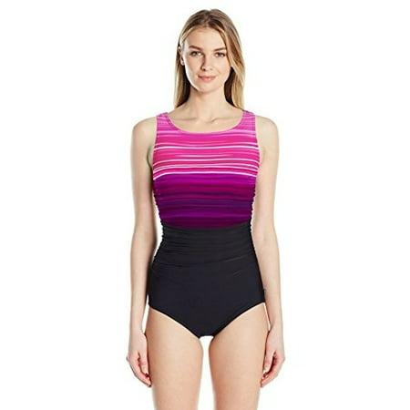 ccf866d2e95e14 Reebok - Reebok Women's Desert Rays High Neck Constructed One Piece Swimsuit,  Pink, 10 - Walmart.com