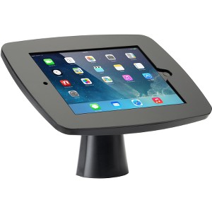 Tryten Kiosk w/ Camera & Home Button Access for iPad Air 1/2/9.7/Pro 9/7 - Black