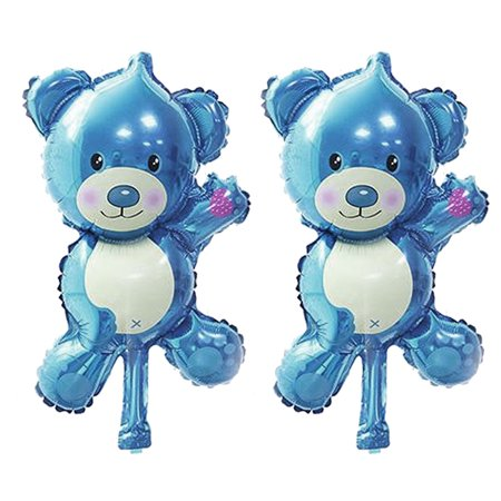Party Festival Foil Cartoon Pattern Ornament Bear Balloon Blue 2 - Bear Balloon