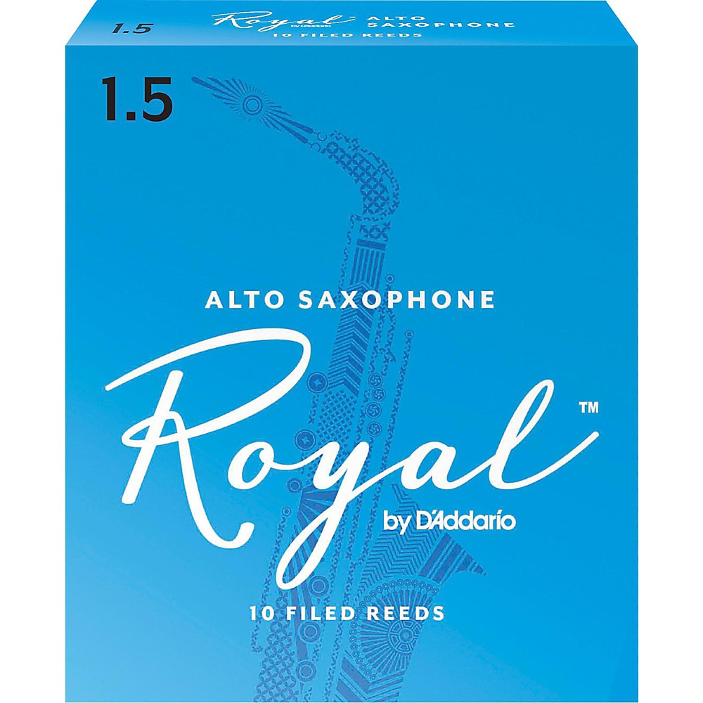 Rico Royal Alto Saxophone Reeds Strength 1.5 by Rico Royal