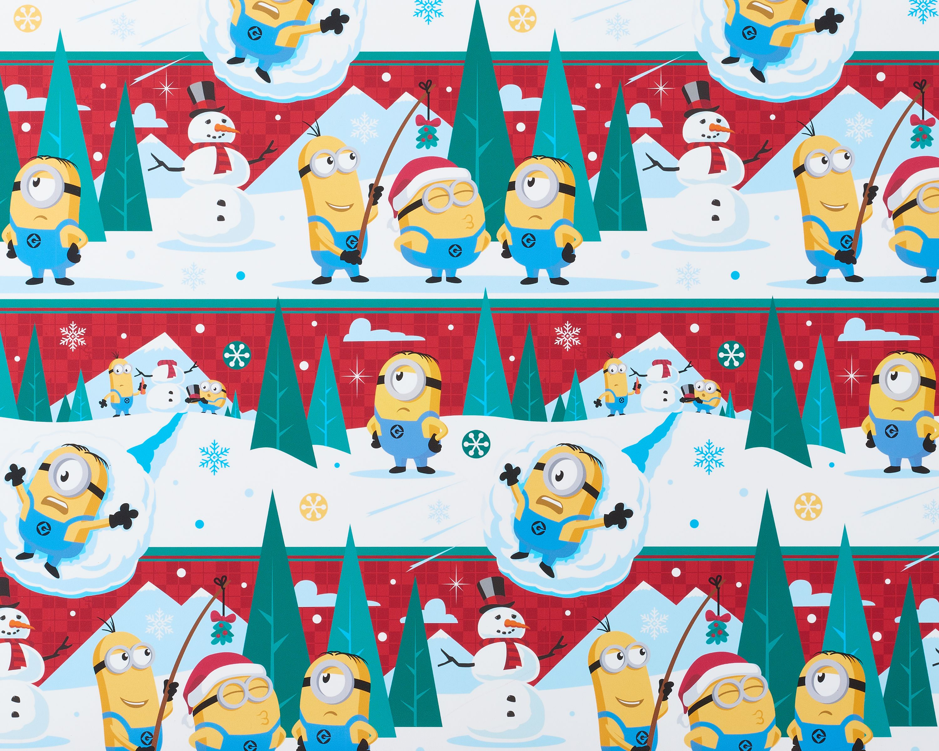 American Greetings Minions Christmas Wrapping Paper 40 sq. ft. total 2ct - Walmart.com  sc 1 st  Walmart & American Greetings Minions Christmas Wrapping Paper 40 sq. ft ...