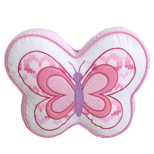 Zoomie Kids Celis Cute Butterfly Decorative 100pct Cotton Throw Pillow
