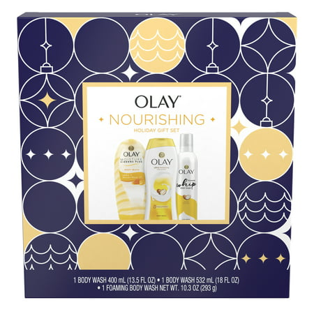 Olay Nourishing Holiday Gift Set (Ultra Moisture Body Wash + Ribbons Body Wash + Foaming Body Wash)