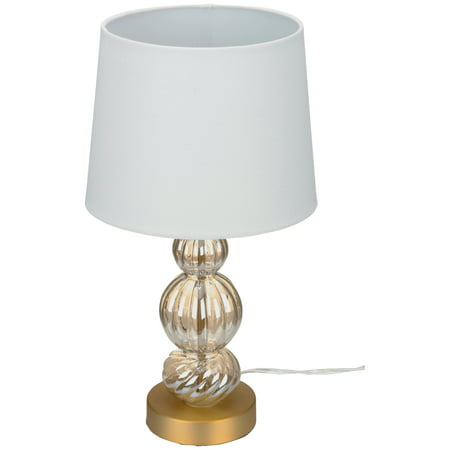 Yellow Oil Lamp - Better Homes and Gardens Textured Stacked Gold Finish Table Lamp
