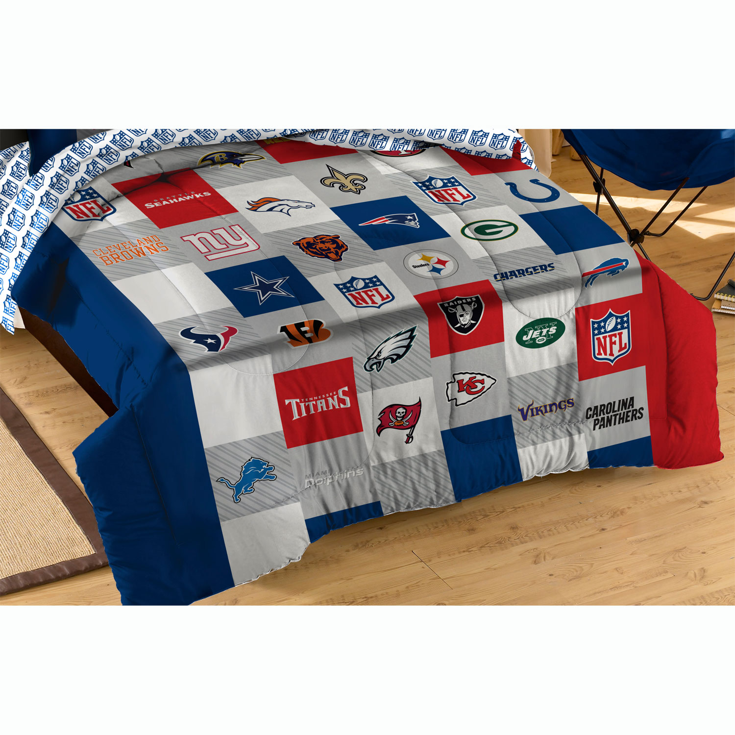 Nfl bedding for boys - Nfl League Twin Full Comforter Set All Teams Bedding Walmart
