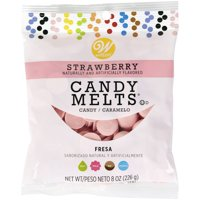 (4 Pack) Wilton Strawberry Candy Melts Candy, 8 oz.
