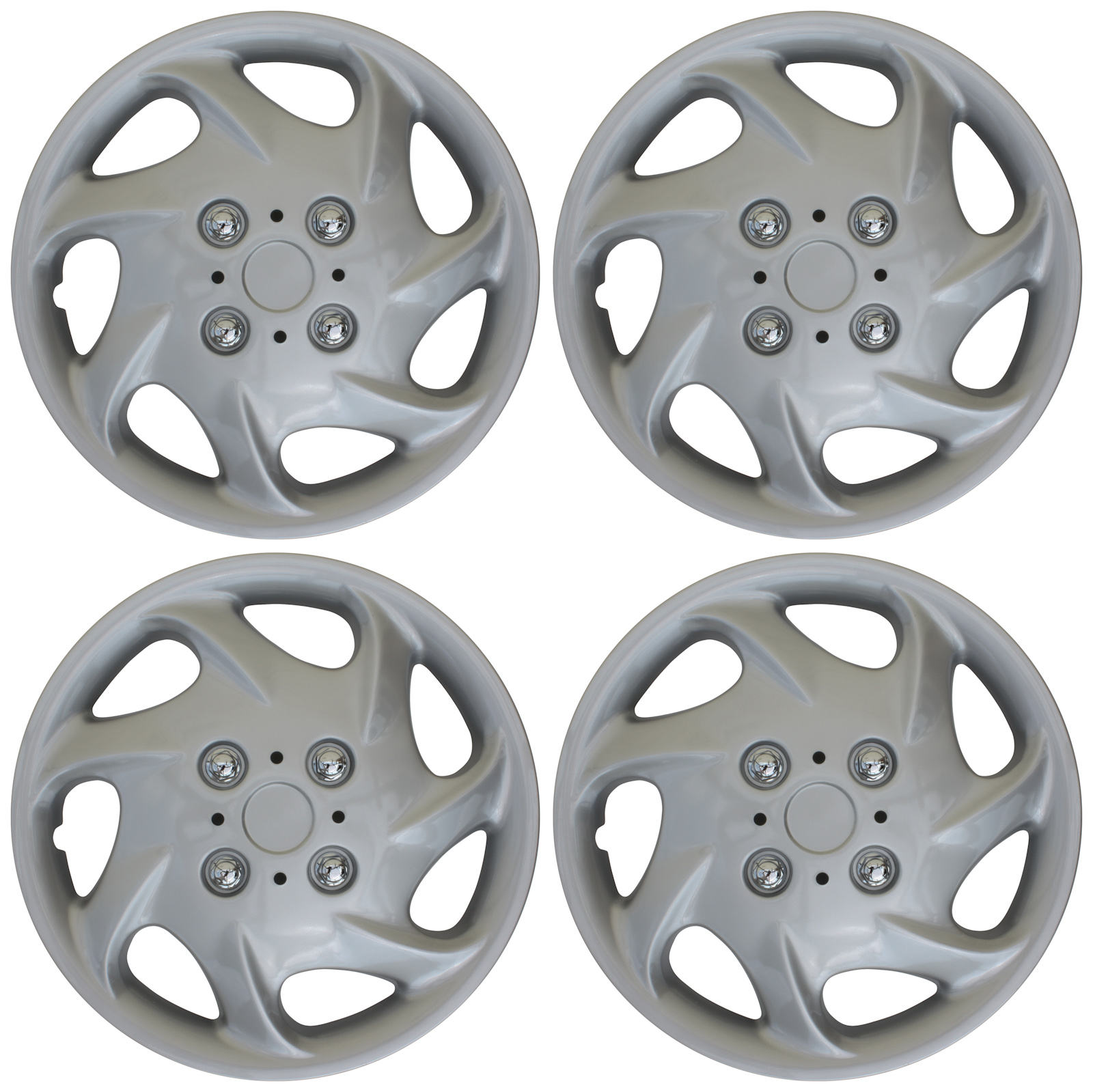 Auto Tire Replacement Exterior Cap 15 inch Hubcaps Best for 2009-2015 Nissan Cube - Snap On Hubcap Wheel Covers 15in Hub Caps Silver Rim Cover Set of 4 Car Accessories for 15 inch Wheels