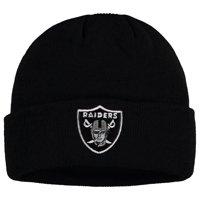 Youth Black Las Vegas Raiders Mass Cuffed Knit Hat - OSFA