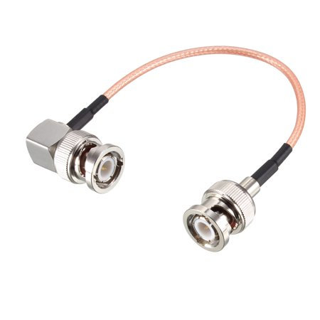 0.5 Right Angle (BNC Male to BNC Male Right Angle Coax Cable RG316 RF Coaxial Cable 0.5)