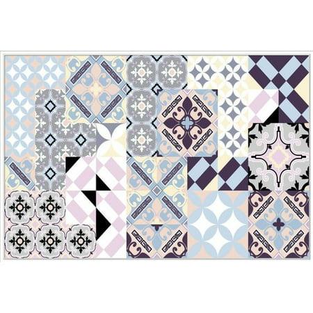 Canvas Santa Fe >> Bungalow Rose Santa Fe Tiles Framed Graphic Art Print On Canvas