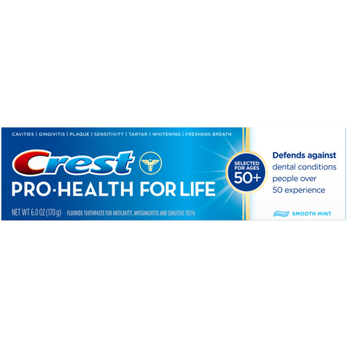Crest Pro Health For Life Smooth Mint Fluoride Toothpaste - 6 Oz