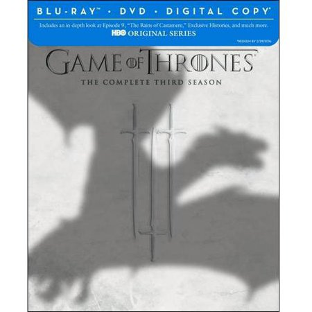 Game Of Thrones  The Complete Third Season  Blu Ray   Dvd   Digital Copy