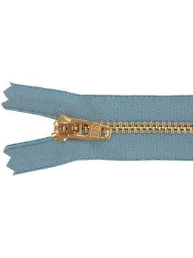 """Jean Zipper 7""""-Faded Blue"""