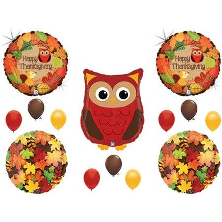 Woodland Owl (Thanksgiving Woodland Owl Dinner Turkey Banquet Balloons Decoration Supplies )