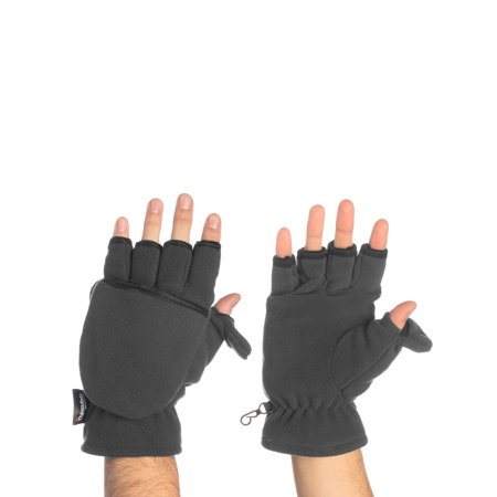 John Bartlett Statements 3-M Thinsulate Men's Fingerless Flip Top Convertible Gloves Mittens Flap Cover Winter Cold Weather