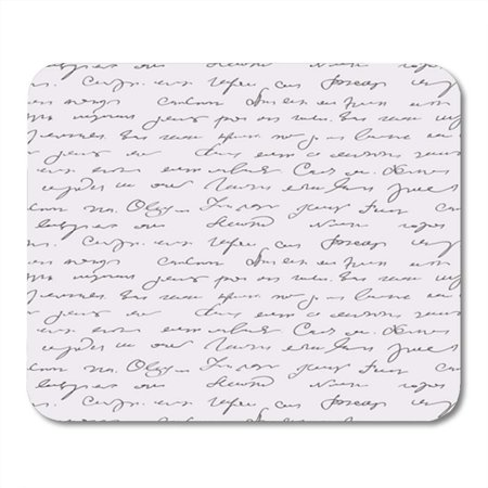 NUDECOR Letter Abstract Text Pattern Cursive Script Masterpiece Vintage Illegible Mousepad Mouse Pad Mouse Mat 9x10 inch - image 1 of 1