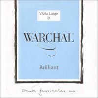 "Warchal Brilliant 16""-17"" Viola D String - Medium Gauge - Hydronalium Wound Synthetic Core"
