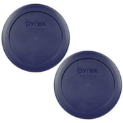 Pyrex Replacement Lid 7200-PC Blue Round Plastic Cover (2-Pack) for Pyrex 7200 2-Cup Bowl (Sold Separately)