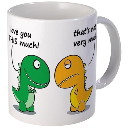 CafePress - Cute Dinosaurs Mug - Unique Coffee Mug, Coffee Cup CafePress (Cute Cups)