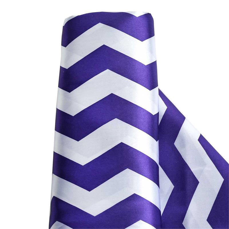 "BalsaCircle 54"" x 10 yards Chevron Satin Fabric Bolt Put-up - Sewing Crafts Draping Decorations Supplies"