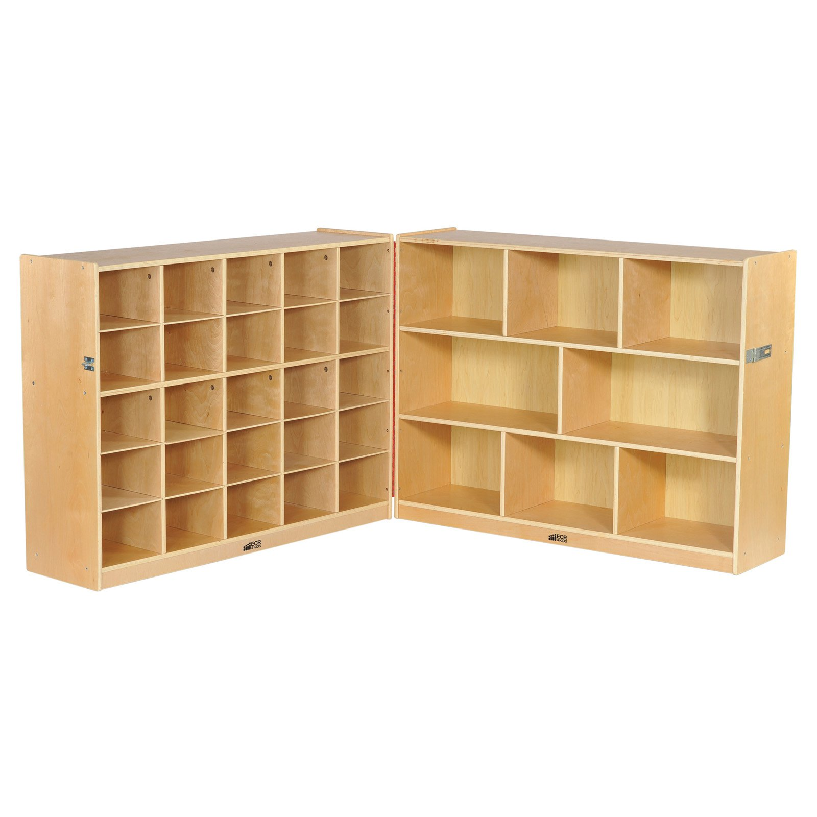 "Fold & Lock 25-Tray Cabinet and 36"" Storage with Bins"