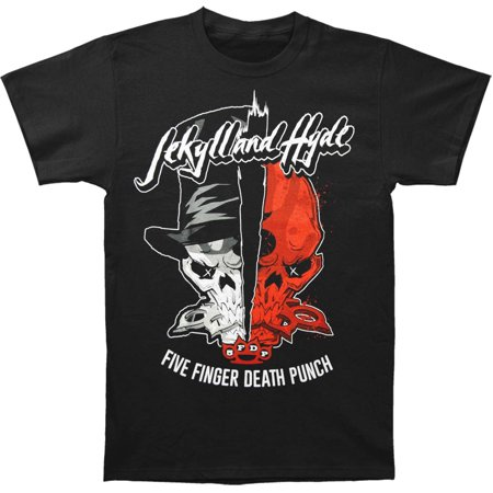 Five Finger Death Punch Men's  Jekyll And Hyde T-shirt (Jekyll And Hyde Bring On The Men Karaoke)