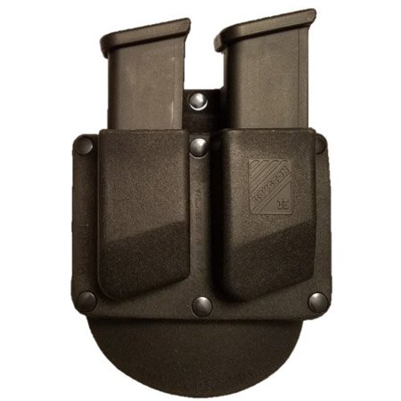 Double Paddle Magazine Pouch Thermo Molded 9mm / .40 Fit most Double Stack Magazine guns (RP113) (Stationary) - Double 9mm Magazine Pouch