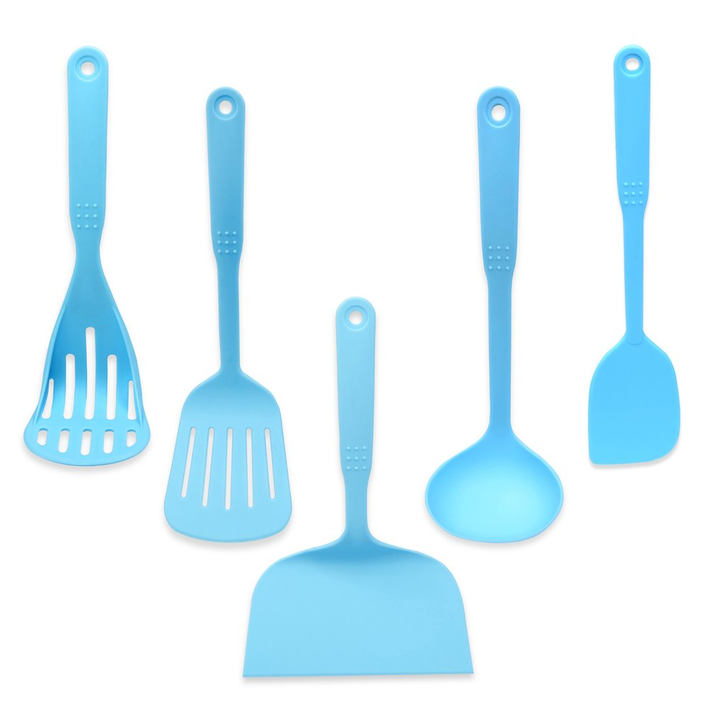New Style Coated Food Grade Nylon Cookware Set Cooking Utensils Kitchen Tools