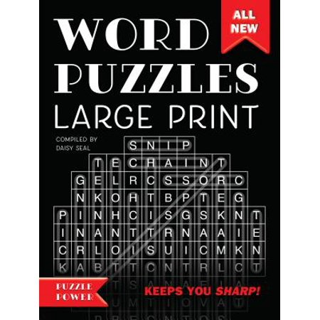 Word Puzzles Large Print : Word Play Twists and Challenges