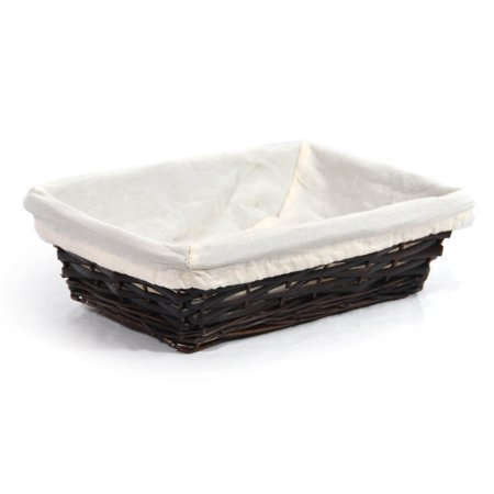 Savannah Rectangular Bread Basket with Cloth Liner 10in