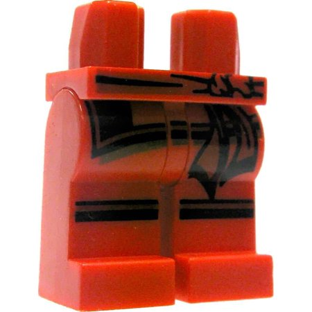 Lego Red With Black Cloth Details Loose Legs
