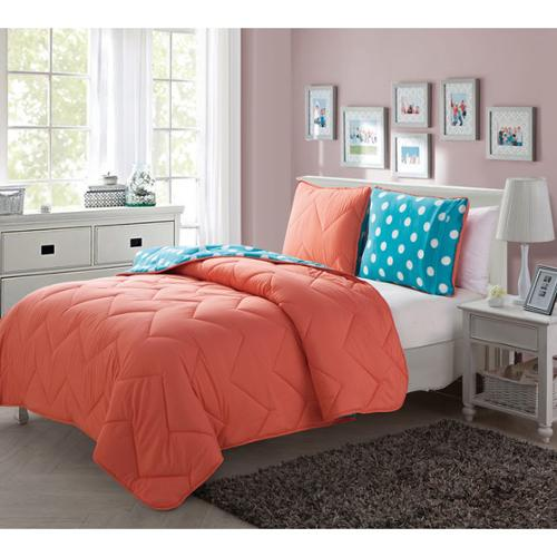 VCNY Juniper Reversible 3-piece Comforter Set Twin/ Twin XL 2 piece Set- Coral