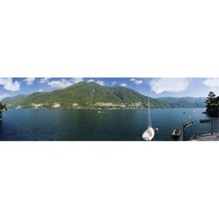 Panoramic Images Ppi125818l Sailboat In A Lake  Lake Como  Como  Lombardy  Italy Poster Print By Panoramic Images   36 X 12