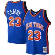 Marcus Camby New York Knicks Mitchell & Ness 1998-99 Hardwood Classics Swingman Player Jersey - Blue