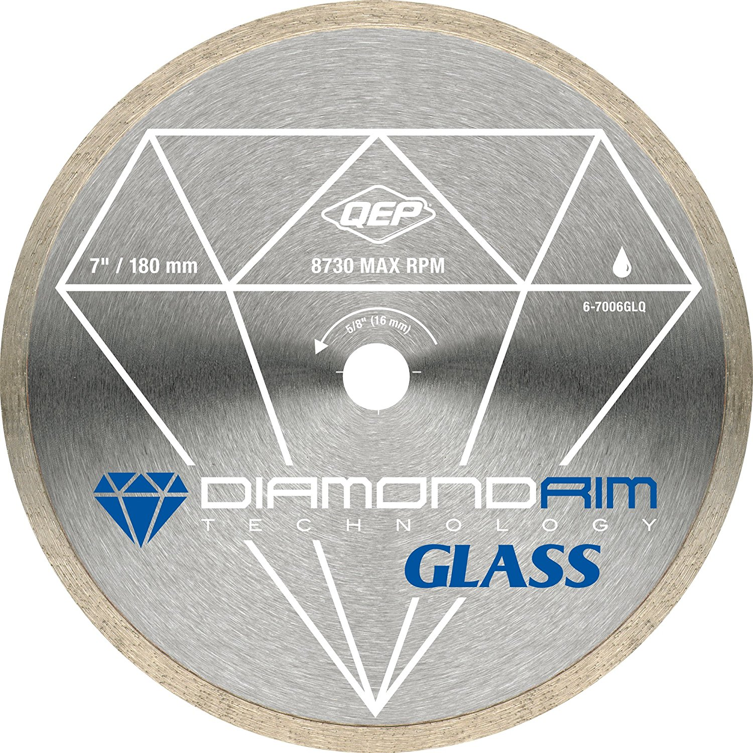 6-7006GLQ 7-Inch Continuous Rim Glass Tile Diamond Blade,...