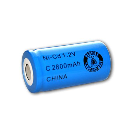 Exell 1.2V 2800mAh NiCD C Rechargeable Battery Flat Top Cell FAST USA