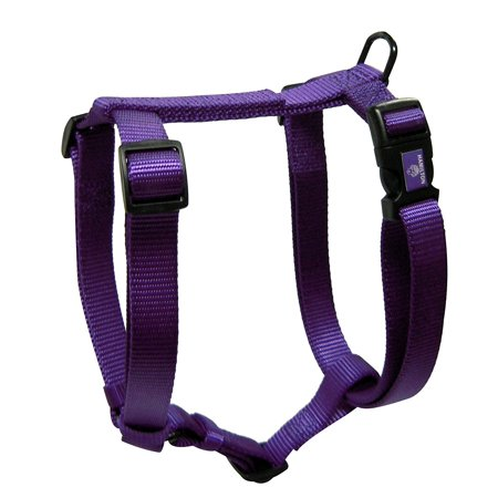 Harnais pour chien en nylon ajustable Deluxe Durable Accessoires pour animaux 1 pouce 30-40 Grand Violet